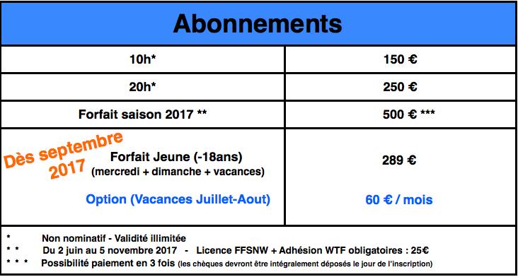 Abonnements 2017