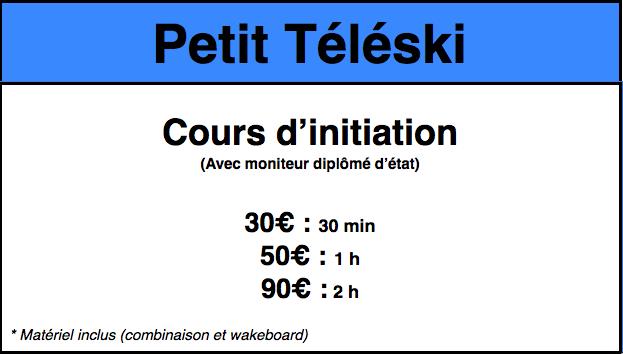 Tarifs Petit Téléski 2017